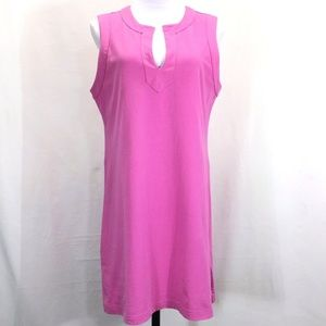 Lands End Pink Sleeveless Cotton Jersey Dress M